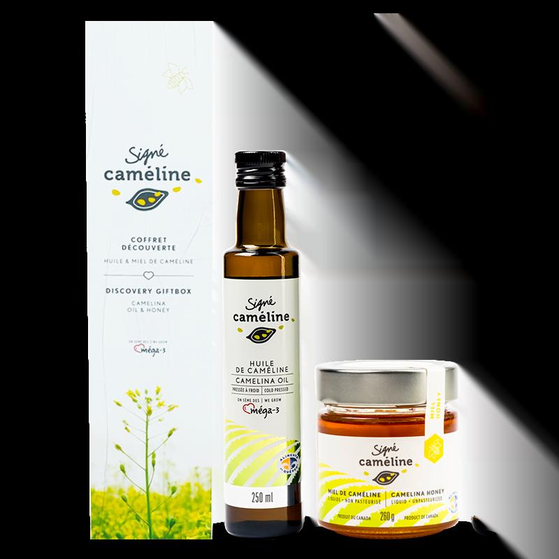 coffret huile et miel liquide