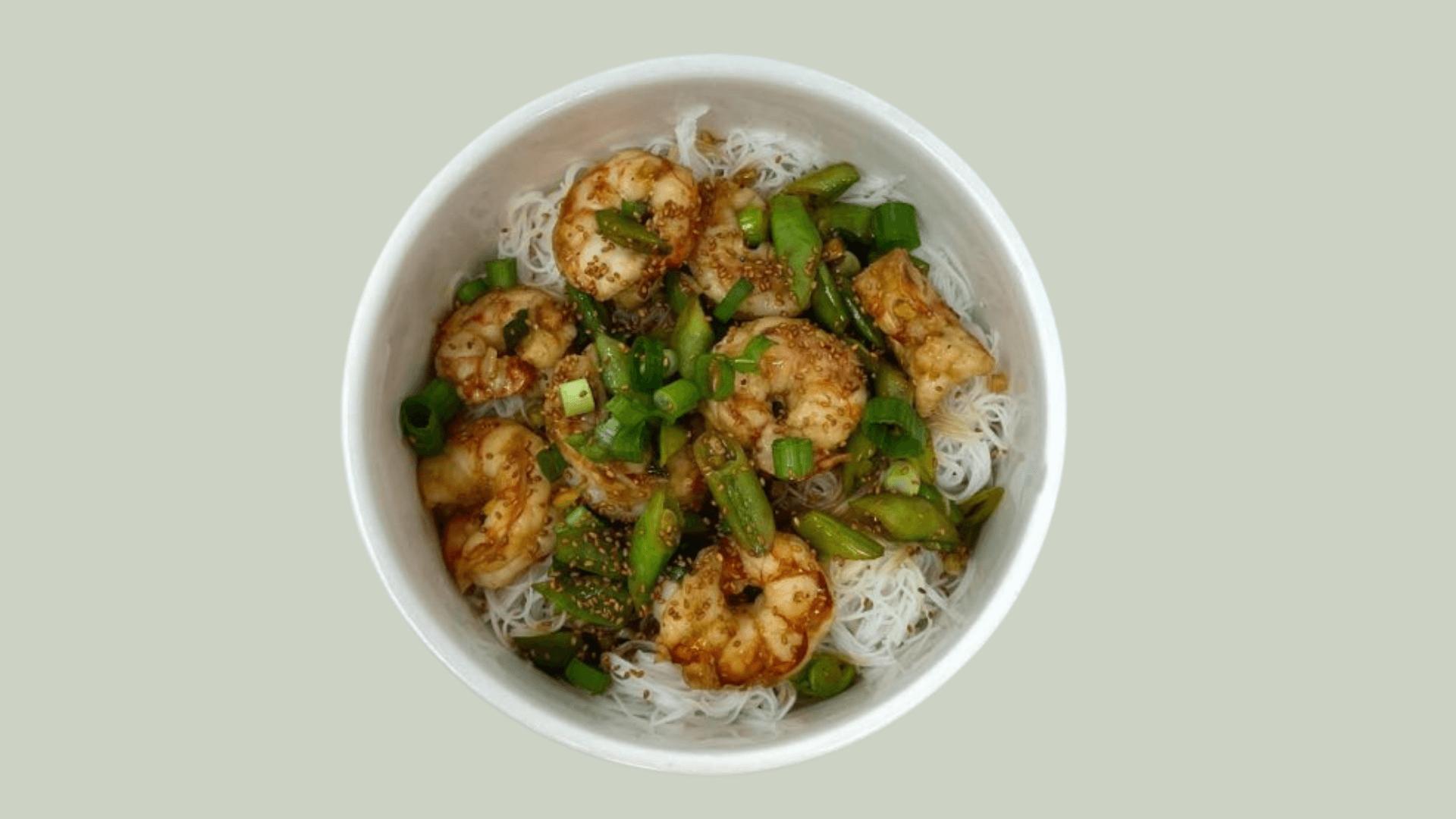 Sauté asiatique aux crevettes